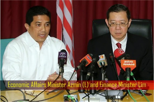 Economic Affairs Minister Azmin and Finance Minister Lim