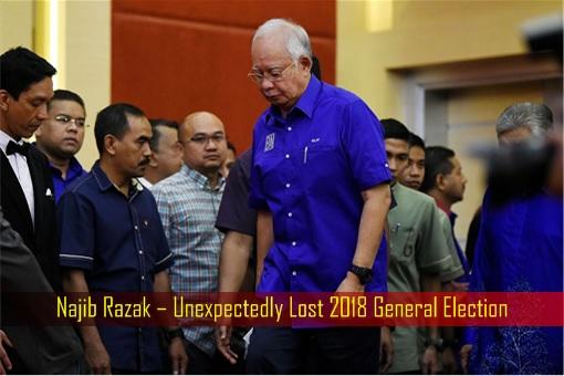 Najib Razak – Unexpectedly Lost 2018 General Election