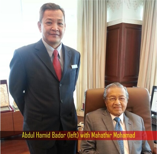 Abdul Hamid Bador with Mahathir Mohamad