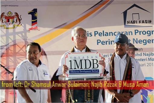 1MDB Scandal - Dr Shamsul Anwar Sulaiman, Najib Razak and Musa Aman