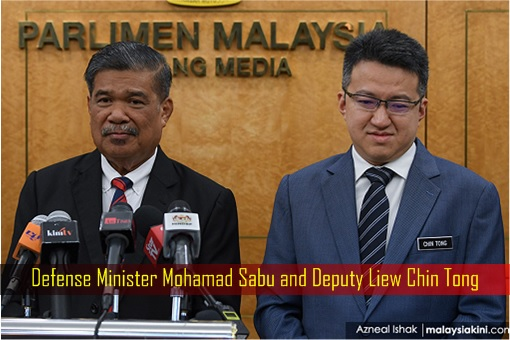 Defense Minister Mohamad Sabu and Deputy Liew Chin Tong