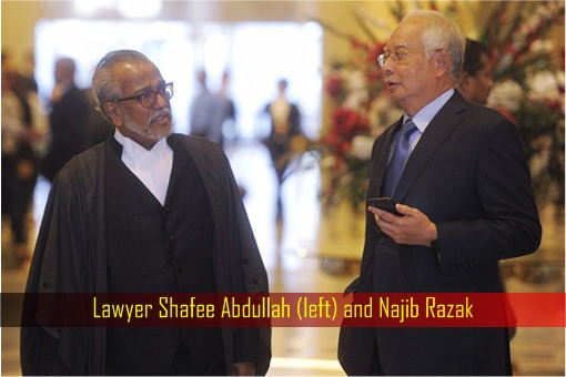 Lawyer Shafee Abdullah and Najib Razak