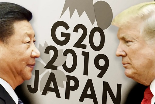 President Xi Jinping and President Donald Trump - Osaka Japan G20 Summit 2019