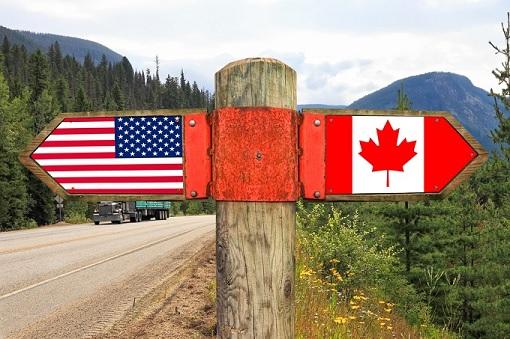 United States - Canada - Sign Board