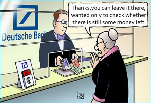 Deutsche Bank - Money Laundering - Cartoon