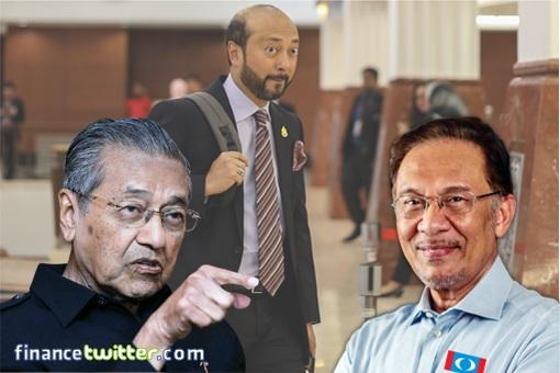 Mukhriz Mahathir - Backpack - Mahathir Mohamad and Anwar Ibrahim