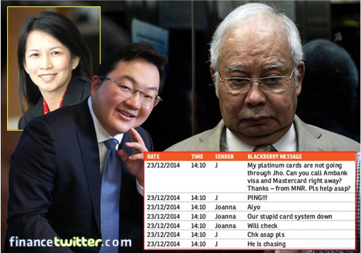 Najib SRC Corruption Trial - BlackBerry Conversation - Jho Low and Joanna Yu - 2