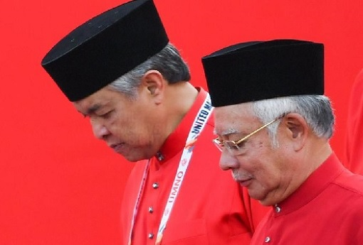 Zahid Hamidi and Najib Razak - Solemn