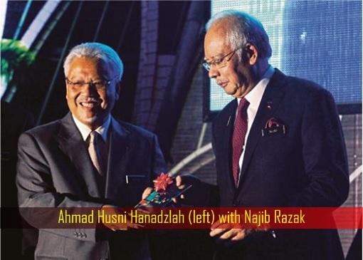 Ahmad Husni Hanadzlah with Najib Razak