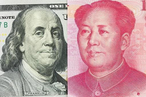 US Dollar and China Yuan - Head Figure