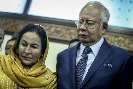 Najib Razak and Rosmah Mansor - Upset and Sad