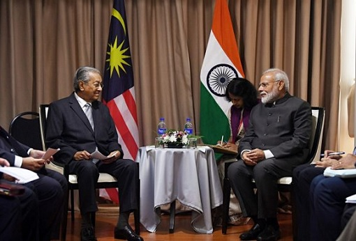 Malaysian Prime Minister Mahathir Meets Indian Prime Minister Modi - Russia