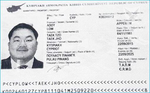 Cyprus Passport - Jho Low