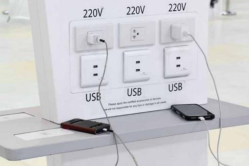 Public USB Charging Station