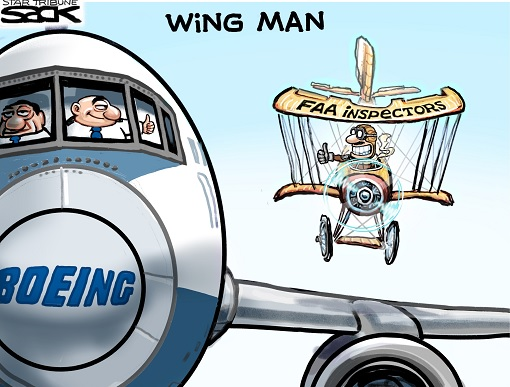 FAA and Boeing - Cover Up Scandal - Cartoon