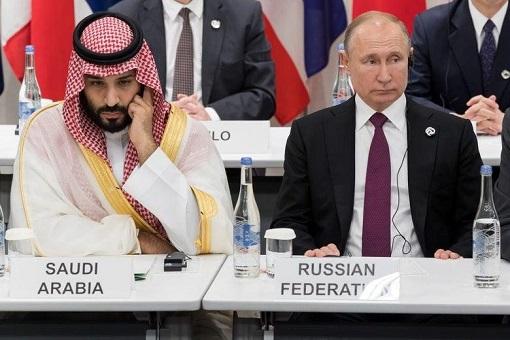 Saudi Arabia Crown Prince Mohammed bin Salman and Russian President Vladimir Putin - 2