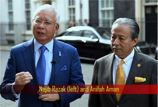 Najib Razak and Anifah Aman