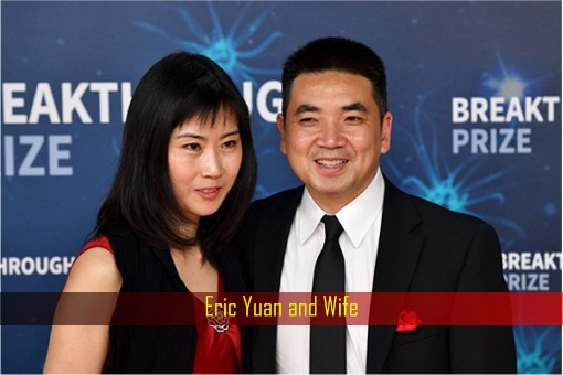 Zoom CEO and Founder Eric Yuan and Wife