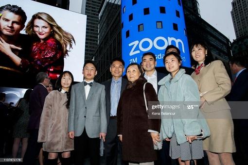 Zoom IPO Listing on NASDAQ - Eric Yuan and Families